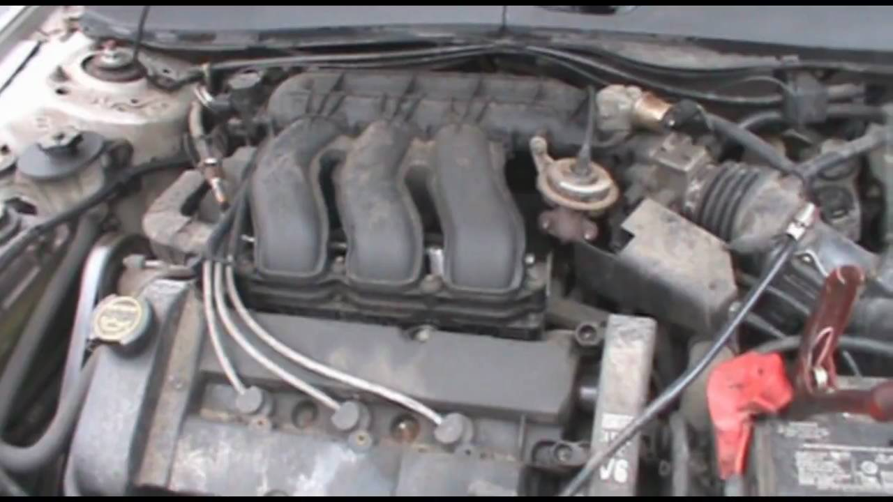 Ford 3 0 V6 Engine Firing Diagram 2001 Mercury Sable Cold Start Dash View Amp Engine View