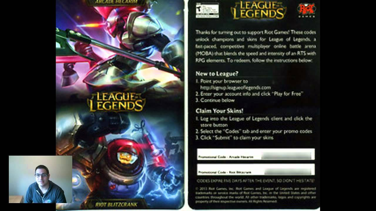 League Of Legends Bonus Codes