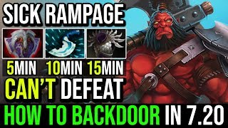 How to BackDoor With Axe in 7.20e | CRAZY RAMPAGE AGGRESSIVE PLAY 19Kills in 20Min By MF Dota 2