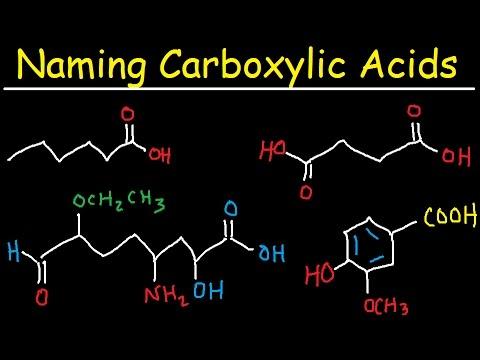 Naming Carboxylic Acids - IUPAC Nomenclature - Organic Chemistry