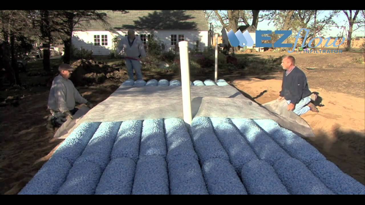 septic mound system installation with ezflow by. Black Bedroom Furniture Sets. Home Design Ideas