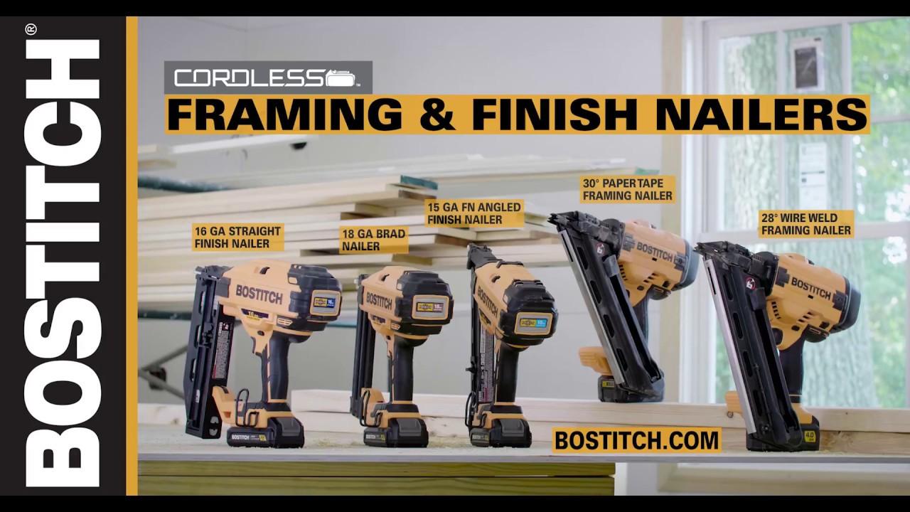 Bostitch 174 20v Max Cordless Framing And Finishing Nailers