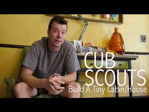 Cub scouts build a tiny cabin office playhouse tiny house in ma youtube - The scouts tiny house ...