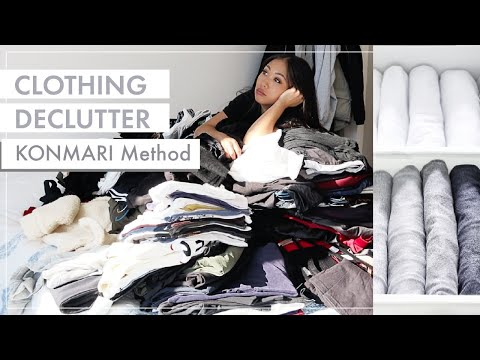 KONMARI METHOD EXTREME DECLUTTERING | Marie Kondo | Before & After Clean with me - YouTube