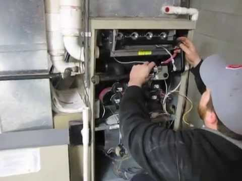 Diy How To Replace Burners On A Lennox G61 Furnace Youtube