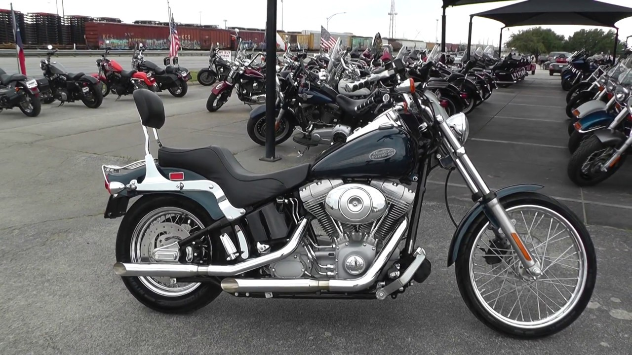 041942 2002 Harley Davidson Softail Standard Fxst Used Motorcycles For Sale Youtube