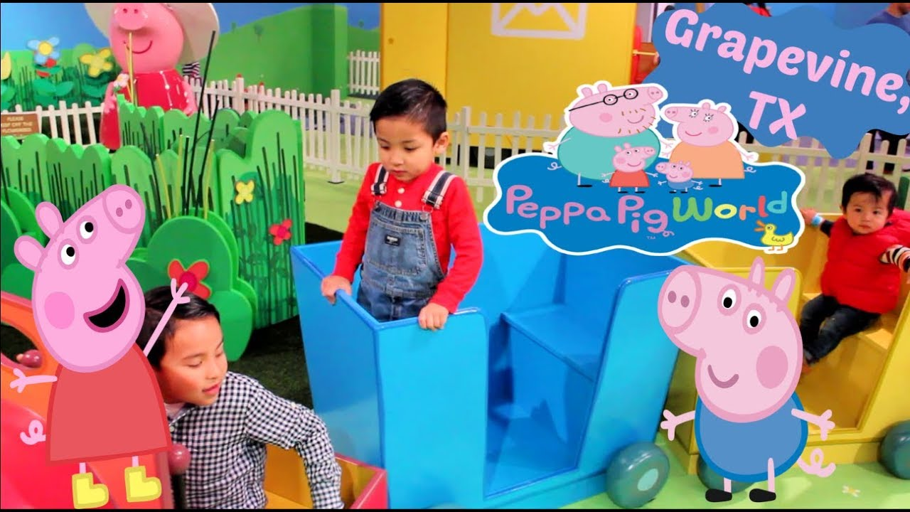 Peppa Pig World Of Play Grapevine Mills Must See Pretend Play