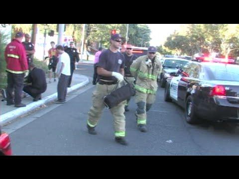Vehicle Vs. Pedestrian Accident In Front Of Modesto Junior College