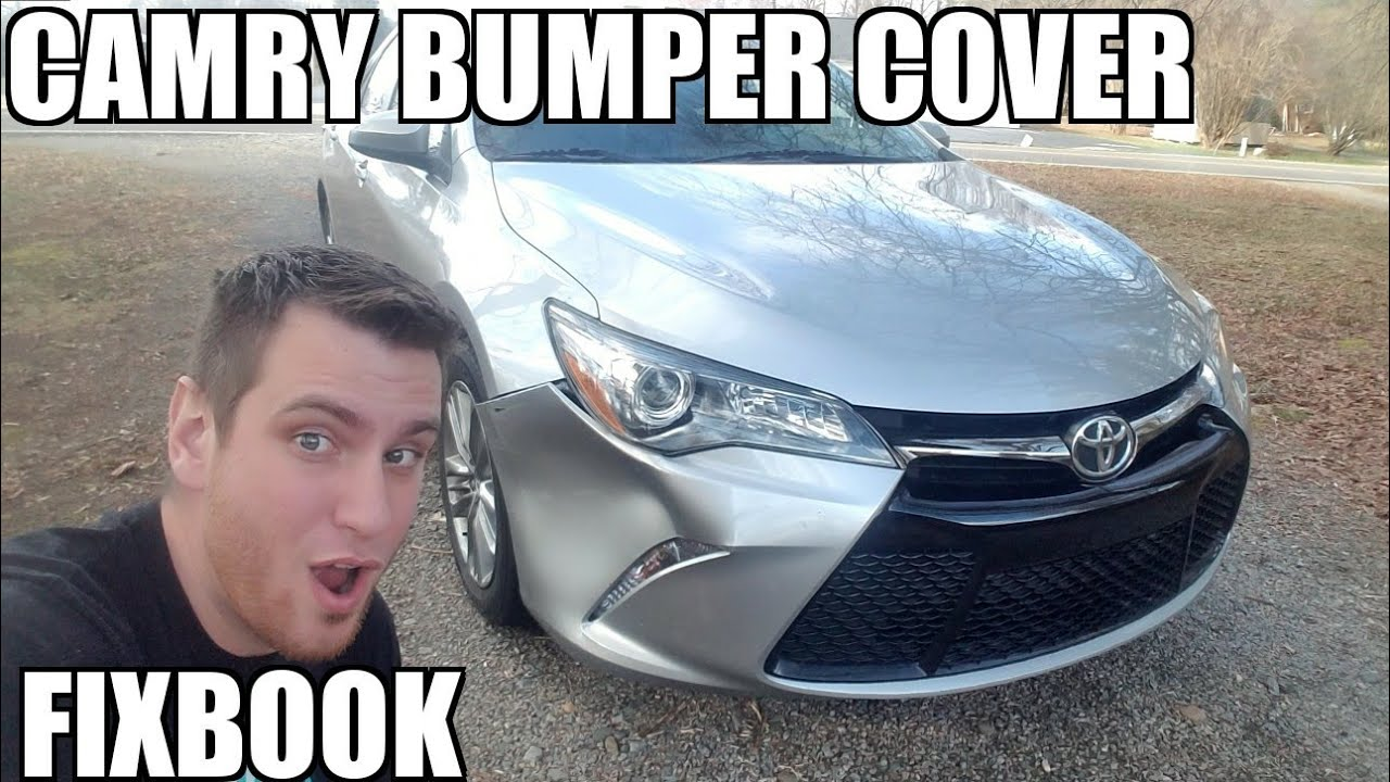 hight resolution of front bumper cover 12 17 toyota camry replacement how to