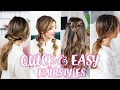 How To: Quick + Easy Hairstyles!   Amelia Liana video