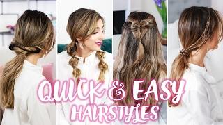 How To: Quick + Easy Hairstyles! | Amelia Liana