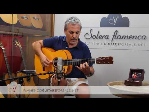 Felipe Conde Reed. Moraito Chico 2017 nº11 flamenco guitar for sale played by Pedro Javier González