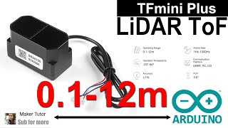 Distance ToF Sensor  Range 0.1 to 12 m for Arduino Raspberry Pi - TFmini Plus