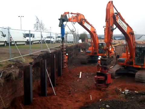 King Post Wall Construction | Sheet Piling & Earth Support