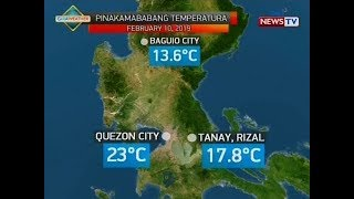 BT: Weather update as of 12:12 p.m. (February 10, 2019)
