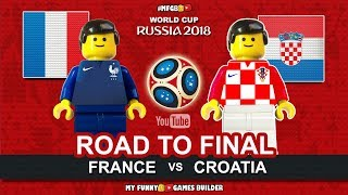 Road To Final Moscow 2018 • France vs Croatia • World Cup 2018 • Goals Highlights Lego Football