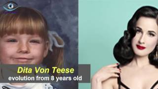 Dita Von Teese - from 8 to 44 years old
