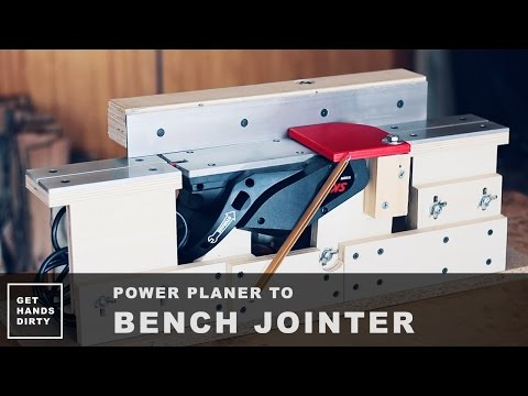 Make a Bench Jointer Out of a Power Planer