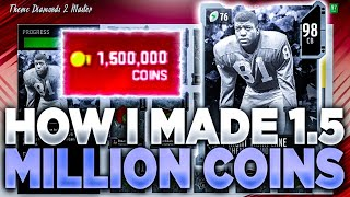 HOW I MADE 1,500,000 COINS COMPLETING THE NIGHT TRAIN LANE SET MADDEN 20 ULTIMATE TEAM!!