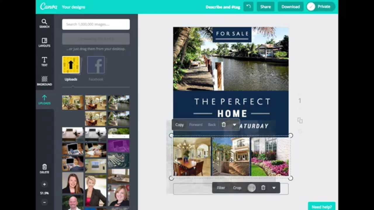how to create real estate flyers with canva youtube