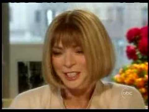 Barbara Walters interviews Vogue Magazine's Anna Wintour