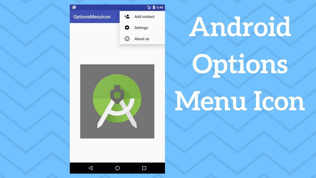 Android Options Menu Icon - Adding Icon to Menu Item - Coding Demos
