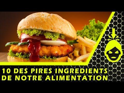 10 des PIRES ingrédients ALIMENTAIRES