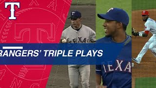 Check out the Rangers' triple plays through the years