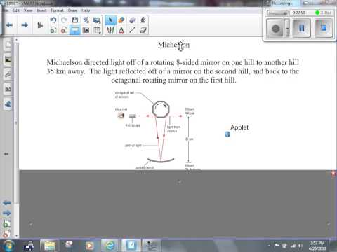 (402) Michelson Speed of Light Experiment