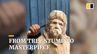 From tree stump to masterpiece