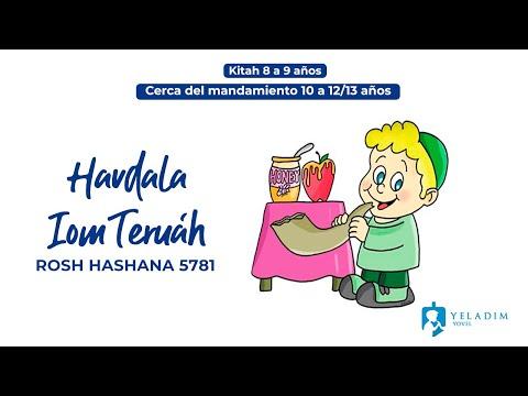 Havdalá #IomTeruah #RoshHashana para Niños  - (9 a 13 años)