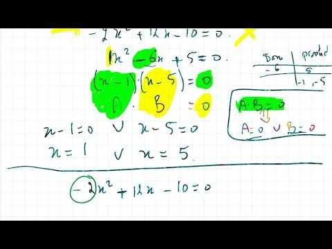 Hogeregraadsvergelijkingen - ontbinden in factoren - WiskundeAcademie from YouTube · Duration:  5 minutes 9 seconds