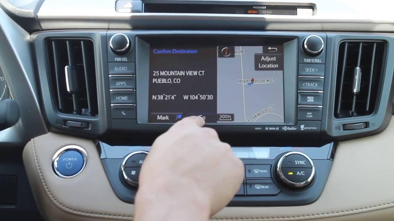 Navigation system on 2016 RAV4 with Angelo Mondragon - YouTube