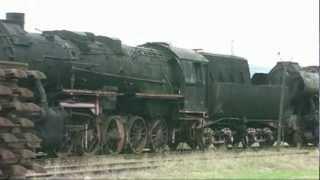 Dampflokomotiven auf dem Abstellgleis