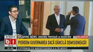 TALK B1 CU BOTIN. DRAGNEA FORTEAZA: PIERDEM GUVERNAREA DACA DANCILA DEMISIONEAZA!