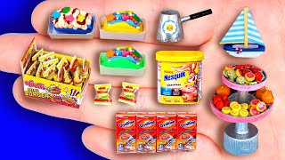 28+ DIY MINIATURE FOODS AND CRAFTS FOR DOLLHOUSE BARBIE