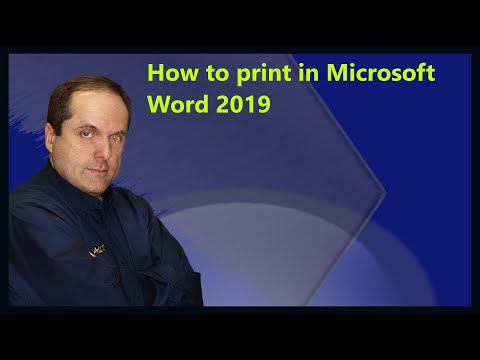 How To Print In Microsoft Word 2019