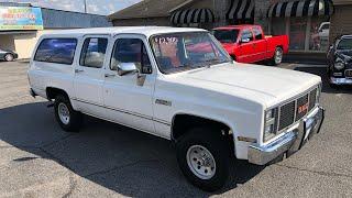 Test Drive 1986 GMC Suburban 4X4 SOLD $12,900 Maple Motors #792