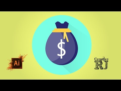 Money Bag Vector Icon Tutorial