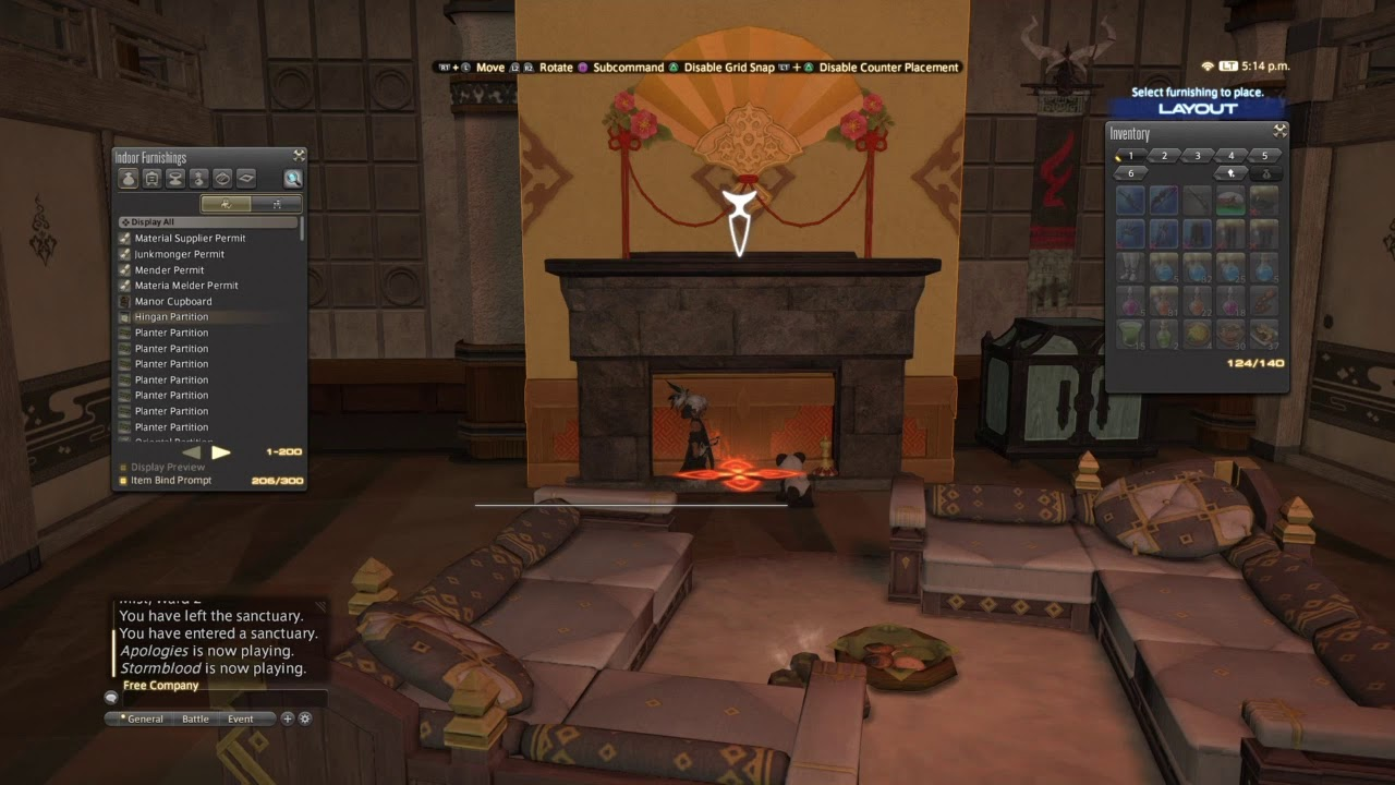 FFXIV Meayumis B E Floating And Fusing Furniture Items Together