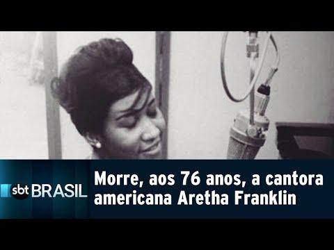Morre, aos 76 anos, a cantora americana Aretha Franklin | SBT Brasil (16/08/18)