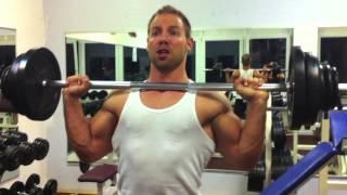 Breite Schultern bekommen wie Hulk - Military Press Training
