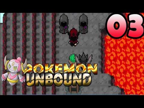 Pokemon Unbound Walkthrough Part 3 - CINDER VOLCANO - MOLTRES!