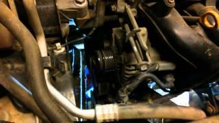 Замена помпы на Toyota Corolla E150 ZRFE