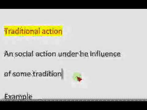 social action of max weber