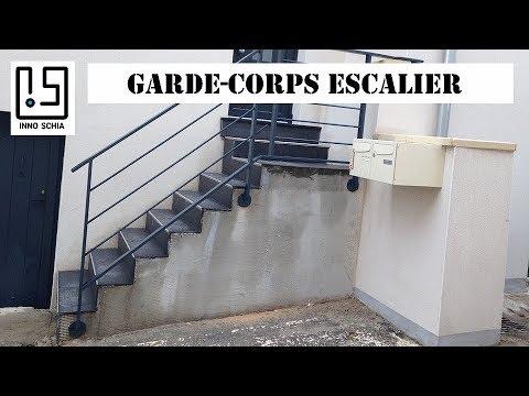 fabriquer un garde corps m tallique pour un escalier en. Black Bedroom Furniture Sets. Home Design Ideas
