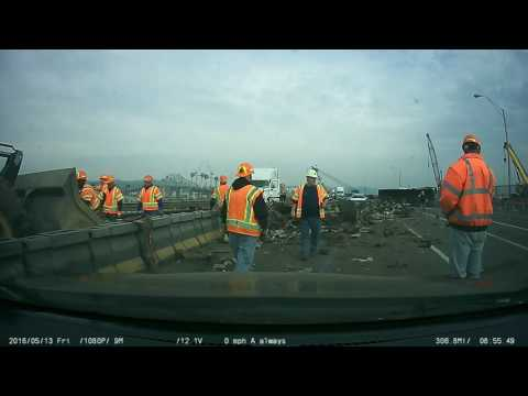 Extra footage from the Tappan Zee Bridge tractor truck accident.