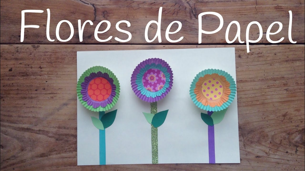 Manualidades para el d a de la madre flores de papel - Manualidades rapidas para ninos ...