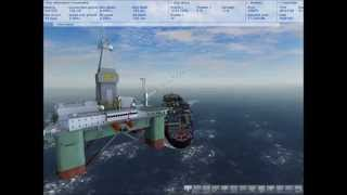 Ship Simulator 2008 - Oil Platform Collision- Vermaas Ship Sinking