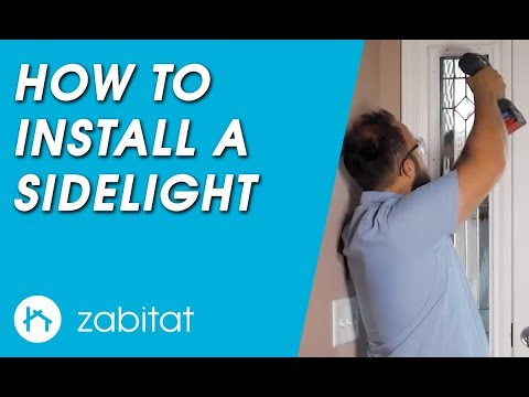 How to Replace a Door Sidelight - Door Glass Insert
